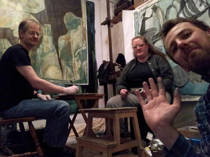 Left to right: Charles Thomson, Emma Pugmire and Edgeworth - Black Ivory Artzine - Dec 2016