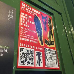 Black Ivory at Mutton Fist Press exhibition poster - Nov 2018